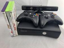 Xbox 360 Slim 250GB Console 1439 Model W/ Kinect Sensor, 3 Games & 2 Controllers