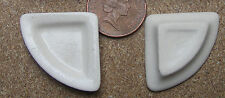 1:12 Scale 2 Cream Ceramic Quarter Plates Dolls House Miniature  Accessory Cr14