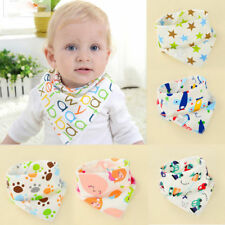 Infant Baby Child Unisex Bibs Feeding Saliva Towel Dribble Triangle Bandana