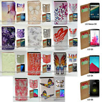 For LG Series Mobile Phone - Butterflies Theme Print Wallet Phone Case Cover #2