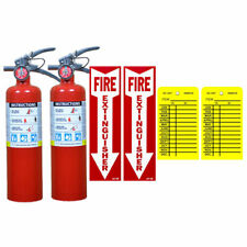 2 25 Lb Buckeye Abc Fire Extinguisher Withveh Bracket Sign Inspection Tag