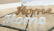 G41814 Dekoschrift Deko Schriftzug Home Holz natur//grau//weiß 29 cm