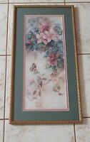 Lena Liu Butterfly and Floral Limited Ed. Numbered & Hand Signed Framed Print