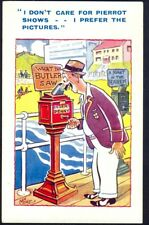 Vintage Comic Postcard: Pier Slot Machine, What the Butler Saw. Free UK Post