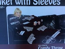 Mississippi State Bulldogs Collegiate Comfy Throw Blanket with Sleeves NEW