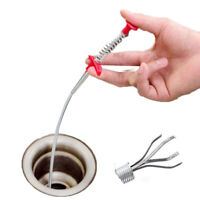 85cm Kitchen Sewer Dredging Device Tools Spring Pipe Cleaner Sink Cleaning Hook