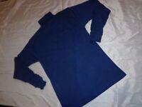 Wear Guard L/S Turtleneck Shirt Knit Collar & Cuffs 100% Cotton Navy Size XL