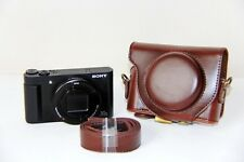 Coffee Leather Camera Case Bag For Sony Cyber-shot DSC-HX80 HX80 DSCHX80 HX80V