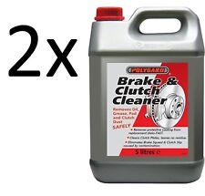 2x NEW POLYGUARD Multipurpose Solvent Brake & Clutch Degreaser Cleaner 5L