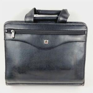Avenues Tuscany Vinyl Leather Black Organizational Portfolio Briefcase Bag