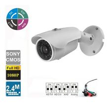 HD-CVI 1080p HD Outdoor Bullet Security Camera, 36 IR LED, ICR Day/Night white