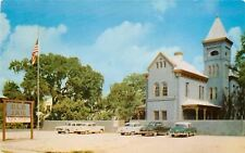St. Augustine Florida~Old Jail~Half-Moon Tower Top~Nice Early 1950s Cars