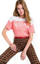 WILDFOX NWT Foxy Destroyed Trenton Football Tee Top in Red Size XS