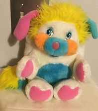 "Vintage Popple Plush White Puffball Yellow Hair 12"" 1986 Popples"