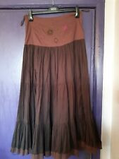 PER UNA BROWN LONG GYPSY SKIRT SIZE 10