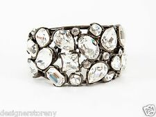 Crystal Fancy Cuff Bracelet Kenneth Jay Lane Gunmetal