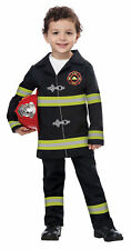 California Costumes Jr Fire Chief Toddler Costume, Black/Yellow, Large (4-6)