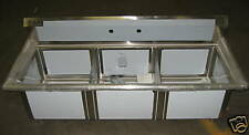 Sink - 3 Compartment with No Drainboard - BRAND NEW