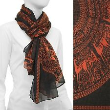 Animal Print Scarf Lightweight Wrap Dark Gray Fashion Accessory 42 x 68 inches