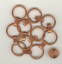 BY THE FOOT Ornate Copper Coated Vintage Chain 28mm Hoop FINAL MARKDOWN CH116
