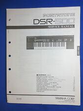 Yamaha DSR-500 Portatone Keyboard Service Manual Factory Original The Real Thing