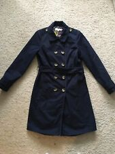 Boden Navy Spring Coat Knee Length, Size 14R, Excellent Condition