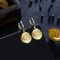 Sterling Silver (925) Gold Plated Evil Eye Post Stud Earrings w/Cubic Zirconias