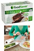 "FoodSaver Vacuum Heat-Seal Rolls Combo Pack 8"" & 11"" Food Saver Storage Bags 6ct"