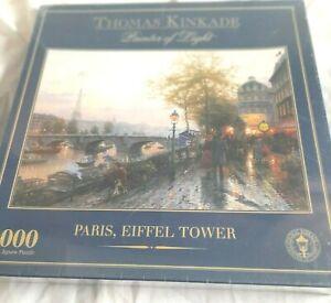 Thomas Kinkade Painter of Light Paris Eiffel Tower Puzzle New Sealed