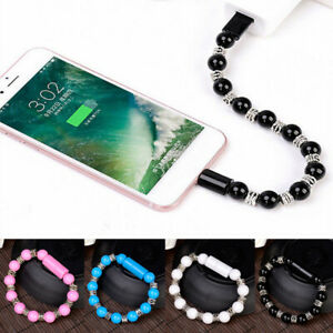 USB Beaded Charger Bracelet For Iphone Android Type C Charging Connector Cable