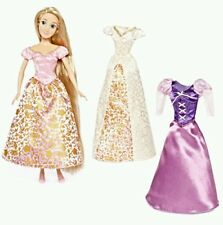 Disney Princess Tangled Rapunzel Doll with 3 Wardrobe Set