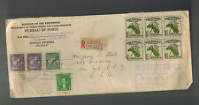 1948 Manila Philippines Bureau of Posts Cover to USA Registered