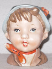 VTG Little Boy Hummel-Like Head Vase Planter Napcoware C-7094 National Potteries