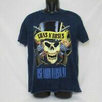 Guns N Roses Use Your Illusion 1991 Tour T-Shirt Blue