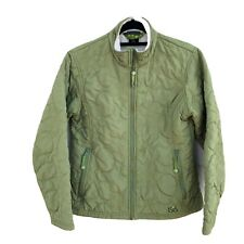 Isis jacket quilted chartreuse light green fleece lined size L