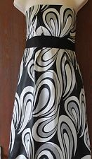 Principles Petite fully lined black and silver strapless dress size 12