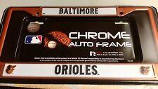 MLB BALTIMORE ORIOLES CHROME LICENSE PLATE FRAME BRAND NEW