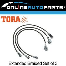Extended Braided Brake Lines suits Patrol GU Y61 ABS TD42 RD28 TB45 Hose Lift