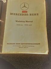 vintage Mercedes Benz Workshop Manual f. moderls 300,B,C,S + SC in English