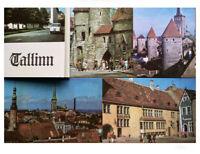 1970 Vintage TALLINN City Views Soviet Estonia USSR Travel Postcards Set15 Card