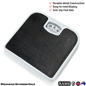Anko Bathroom Scale Body Weight Fat Scales Mechanical Dial Weighing 130Kg Gym