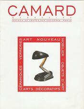 CAMARD Catalogue French ART NOUVEAU Furniture Ceramics Glass Decorative Art Jumo