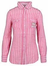 L' ARGENTINA Damen Bluse Women Shirt Gr. 38 M Leinen & Baumwolle Rosa Gestreift