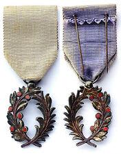 Chevalier Ordre pinne accademico. Francia Argento Posta elettronica. Modello