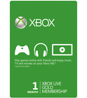 Microsoft 1 Month Xbox Live Gold Membership Subscription Quick Delivery!