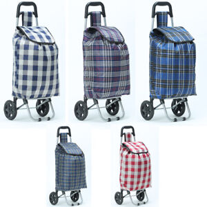 Foldable Festival Shopping Trolley Luggage Bag With Strong Wheels Assorted 42kg