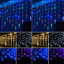 3M 96LED Star Butterfly Hanging Curtain Fairy Lights Christmas Party Decor Lamps