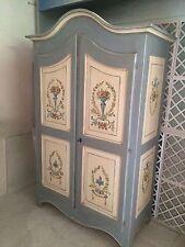 Armadio Stile Tirolese In Massello Decorato A Mano Colori Atossici