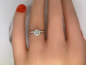 Diamond Anniversary Ring 0.85 Carat Round Cut D SI2 Women Solitaire With Accents Ring 14 Karat Yellow Gold Setting