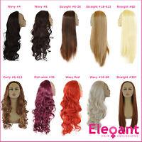 Ladies 3/4 WIG Half Fall Clip In Hair Piece 3 STYLES/25 SHADES